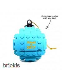 LEGO ® boule de Noël gravée 2018 turquoise