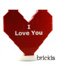 Corazón LEGO® Te amo o I Love You para San Valentín