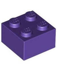 LEGO ® 2x2 donker paars