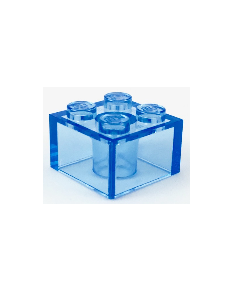 LEGO ® 2X2 bleu transparent