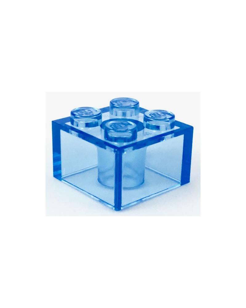 LEGO ® 2x2 transparant blauw