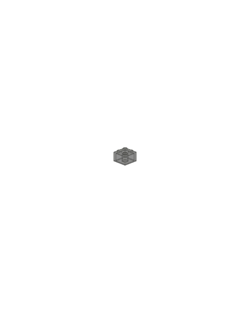 LEGO ® 2X2 noir transparent
