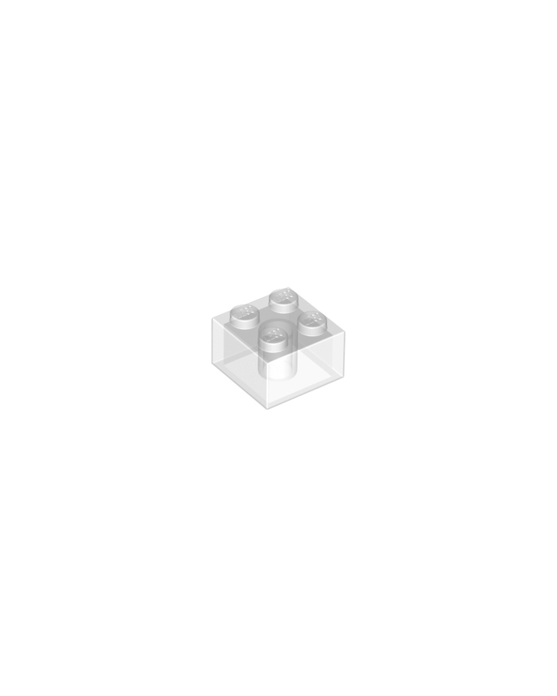 LEGO ® 2x2 trans clear