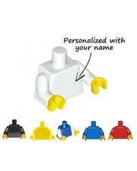LEGO® torso minifigura engrabado con su nombre
