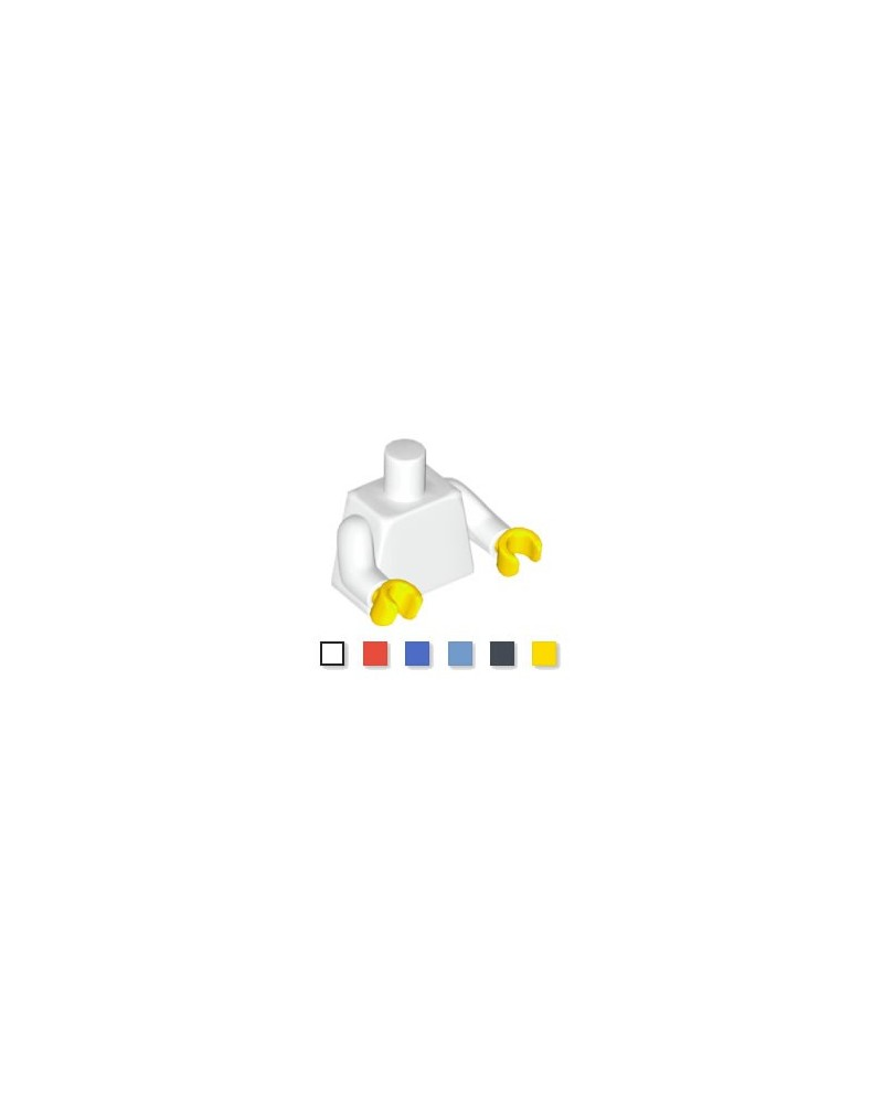 LEGO® parts minifigure torso white