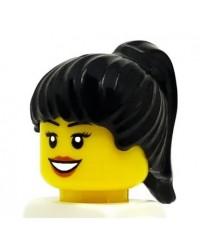 LEGO® Minifiguren Haar Vrouwelijk Paardenstaart zwart 6093
