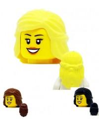LEGO® Minifiguren Haare weiblich mittellang blond 59363