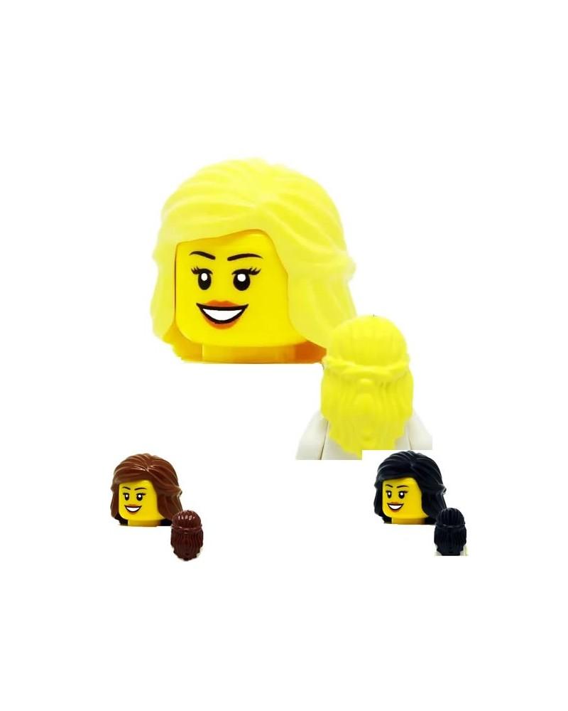 LEGO® minifiguren haar Vrouw Halflang Blond 59363