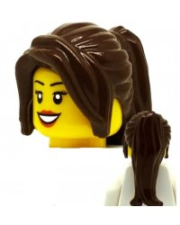 LEGO® cheveux long brun minifigures