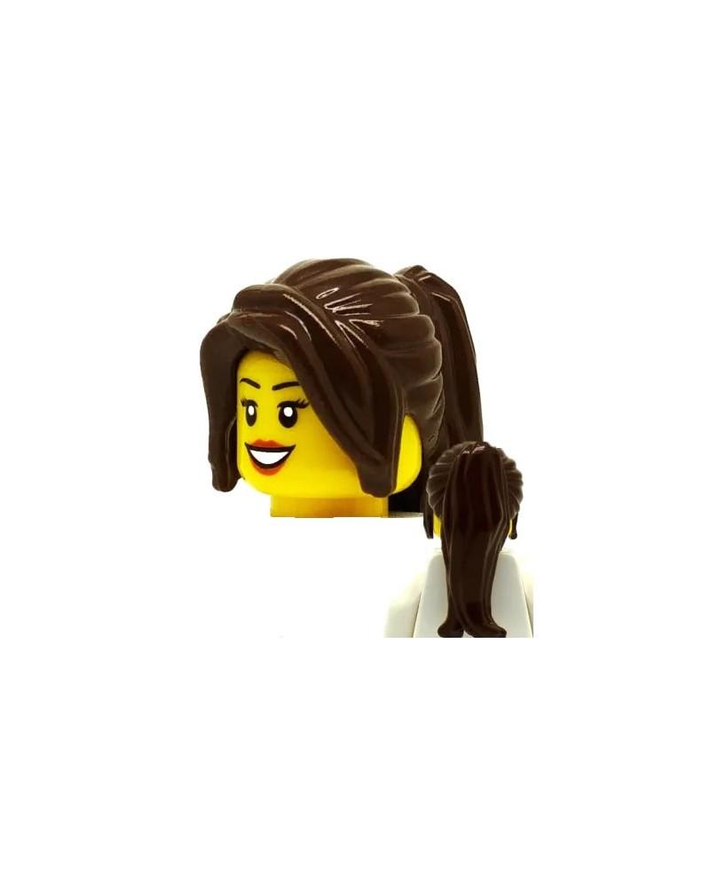 LEGO® cheveux long brun minifigures