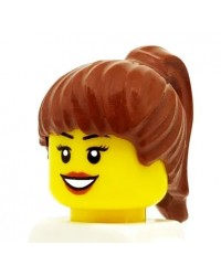 LEGO® cheveux minifigures fille maron