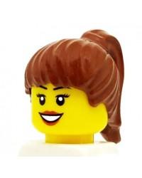 LEGO® minifiguren haar meisje licht bruin