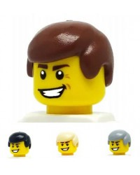 LEGO® hair for boys for minifigures brown