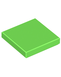LEGO® Tile 2x2 lemon green