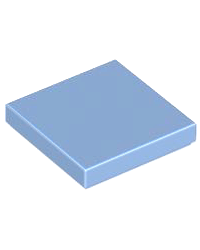 LEGO® Tile 2x2 medium blauw