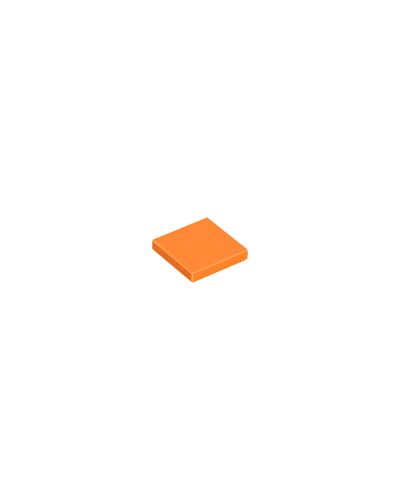 LEGO® Tile 2x2 oranje