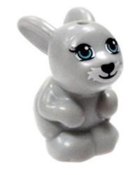 LEGO® Friends grey rabbit bunny