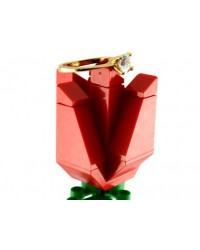 LEGO® rose for engagement ring