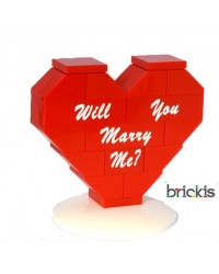 Corazón LEGO® personalizado Will You Marry Me?