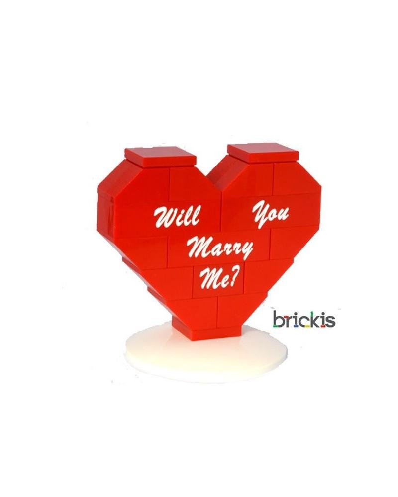 Corazón LEGO® personalizado Will You Marry Me?