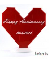 Corazón LEGO® aniversario de bodas