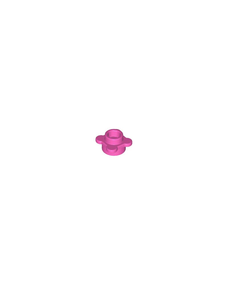 LEGO® flor rosa oscuro, plato redondo 1x1