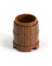 LEGO® barrel reddish brown