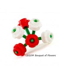 LEGO® Ramo de flores rojas y blanca