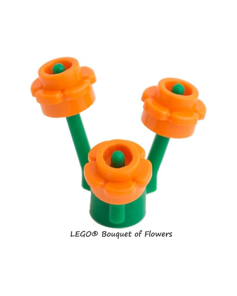 Ramo LEGO® de flores naranjas