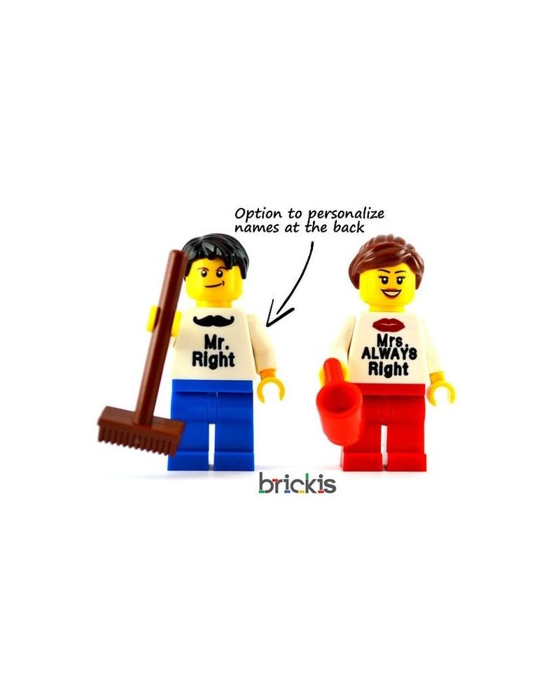 Minifiguras LEGO® enamorados personalizadas  San Valentín