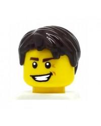 LEGO® minifigures hair for boys, dark brown