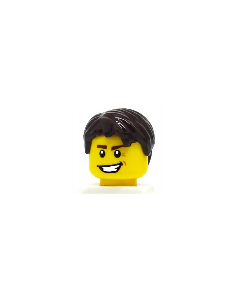 LEGO® cheveux minifigures garçons maron foncé