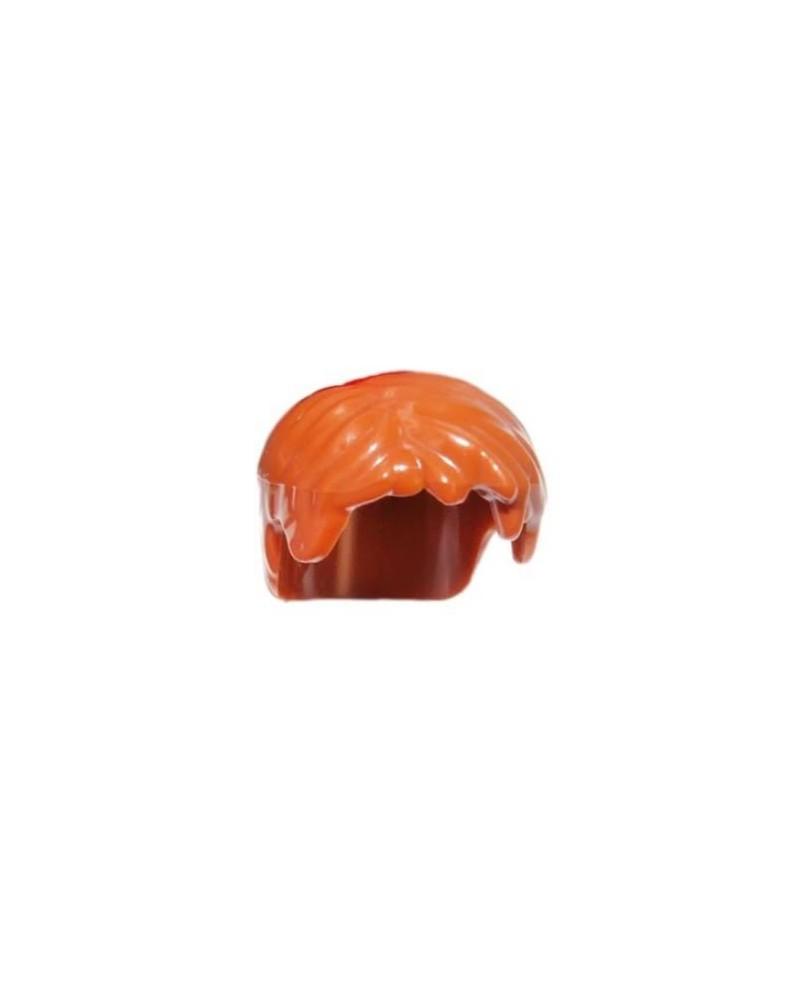 LEGO® minifigures hair for boys dark orange