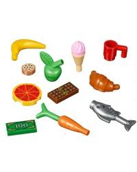 LEGO® leuke set van 13 accessoires  eten en drinken, groenten fruit