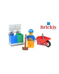 Minifigura LEGO® 45022 basurero - jardinero