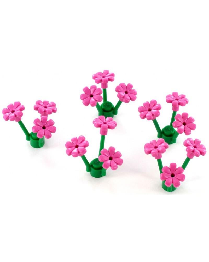 5 x LEGO® stengels elk 3 bloemen