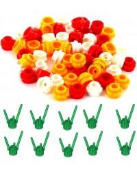LEGO® 30 bloemen + 10 stengels