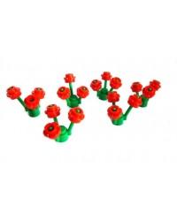 6x LEGO® Stielen je 3 Blüten