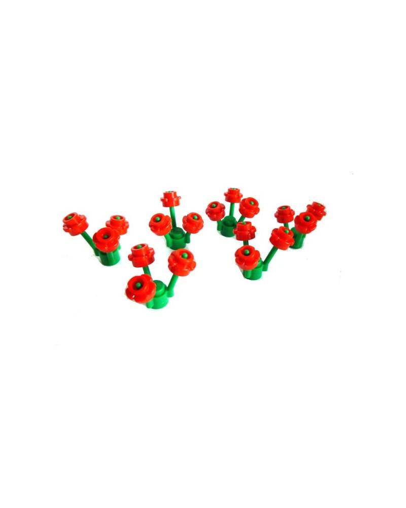 Flores LEGO® un total de 6 tallos y 18 flores