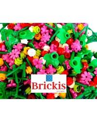 100x LEGO® Surtido de flores, tallos y hojas