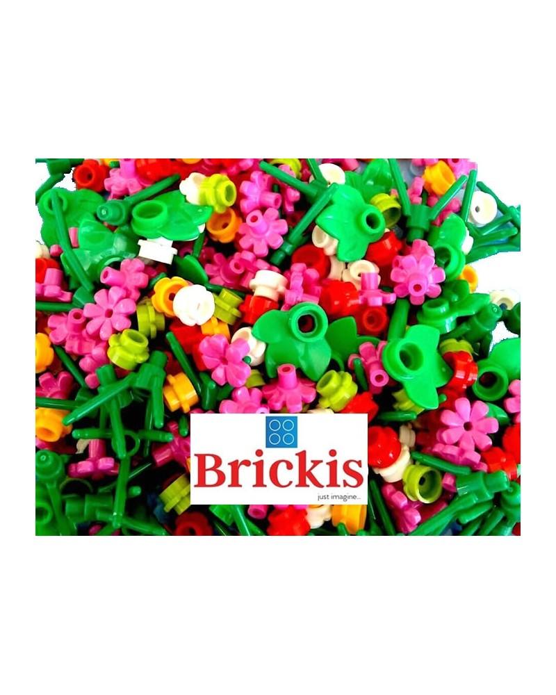 100 LEGO® flowers stems leaves