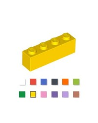 LEGO  1x4 steen kies uw kleur