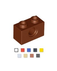 LEGO® technic 1x2 w hole 3700 brown