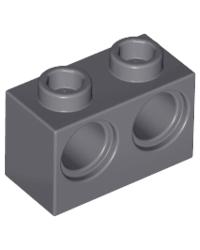 LEGO® technic 1x2 met 2 gaten 32000 donker grijs