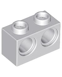 LEGO® technic 1x2 met 2 gaten 32000 lichtgrijs