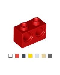 LEGO® technic 1x2 avec 2 trous 32000 rouge