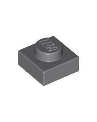 LEGO® Plate 1x1 grey