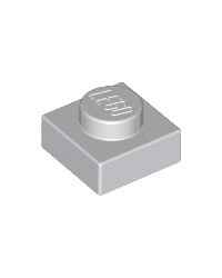 LEGO® Plate 1x1 light bluish grey