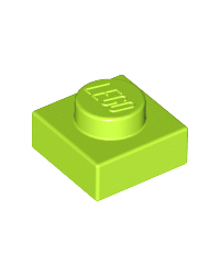 LEGO® Plate 1x1 lime green