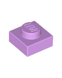 LEGO® Plate 1x1 medium lavender